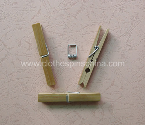 9.5cm Bamboo Clothes Pegs