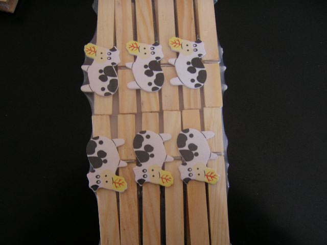Cow Wooden Clothespin Crafts
