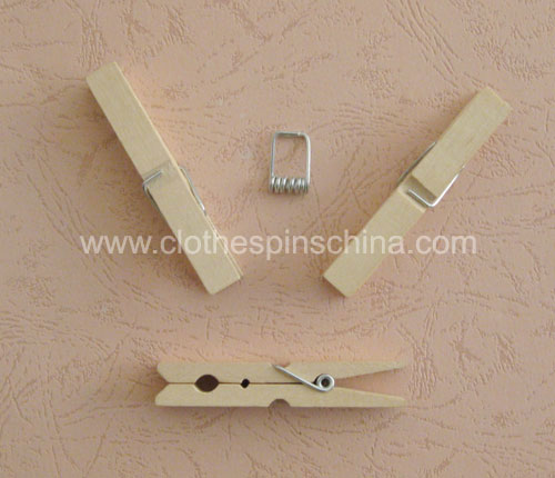 8.4cm Wood Clothespins
